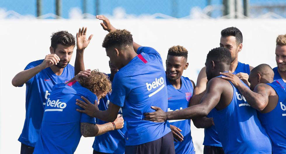 Antoine Griezmann entrena por primera vez con el Barcelona. (Mundo Deportivo)