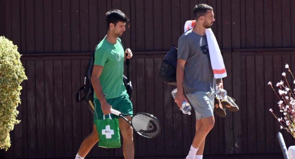 Djokovic saliendo de un entrenamiento privado. (Foto: EFE)