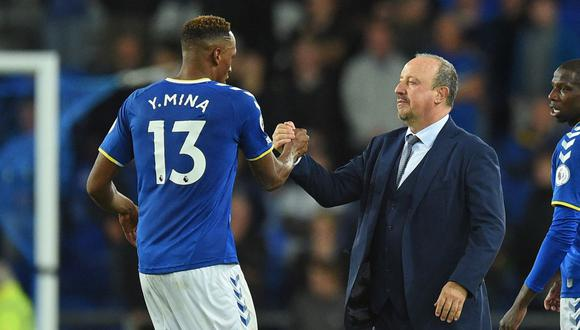 Yerry Mina fue titular en la victoria 3-1 de Everton vs. Burnley por Premier League. (Foto: AFP)