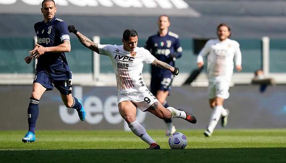 Gianluca Lapadula jugó 73 minutos en el triunfo contra Juventus en la Serie A. (Foto: Benevento)