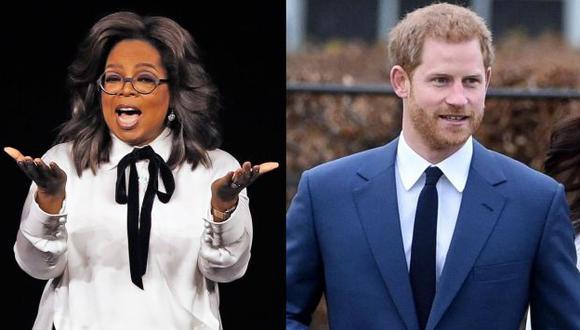 Oprah Winfrey y el príncipe Harry realizarán documental sobre salud mental para Apple. (Foto: AFP/EFE)