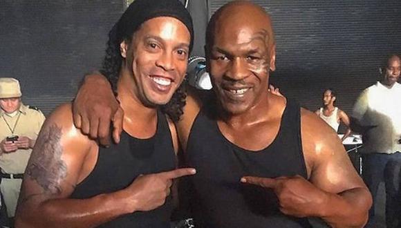 El mensaje de aliento de Ronaldinho a Mike Tyson por su regreso al boxeo. (Instagram)