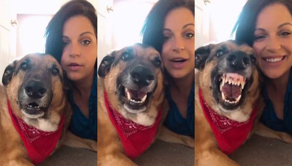 Un video viral muestra la facilidad con la que un perro sonríe cuando su dueña le pide un selfie. | Crédito: ViralHog / YouTube
