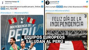Así saludaron los equipos de fútbol al Perú por el Bicentenario