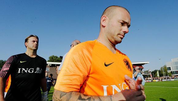 Wesley Sneijder se retiró del fútbol en agosto del 2019. (Getty)