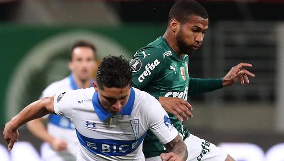 Palmeiras venció a Universidad Católica en el Allianz Parque por la vuelta de octavos de final de Copa Libertadores 2021 (Foto: AFP)