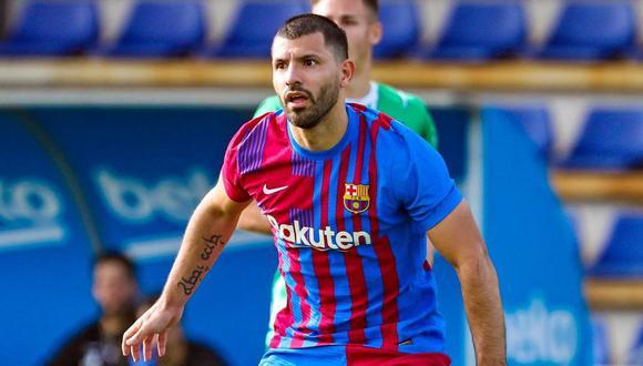 Sergio Agüero hizo un gol en el empate entre Barcelona y UE Cornellá. (FC Barcelona Twitter)
