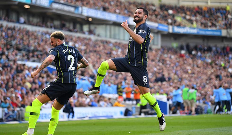 Manchester City vs Brighton jugaron por jornada 38 de la Premier League. (Foto: Getty)
