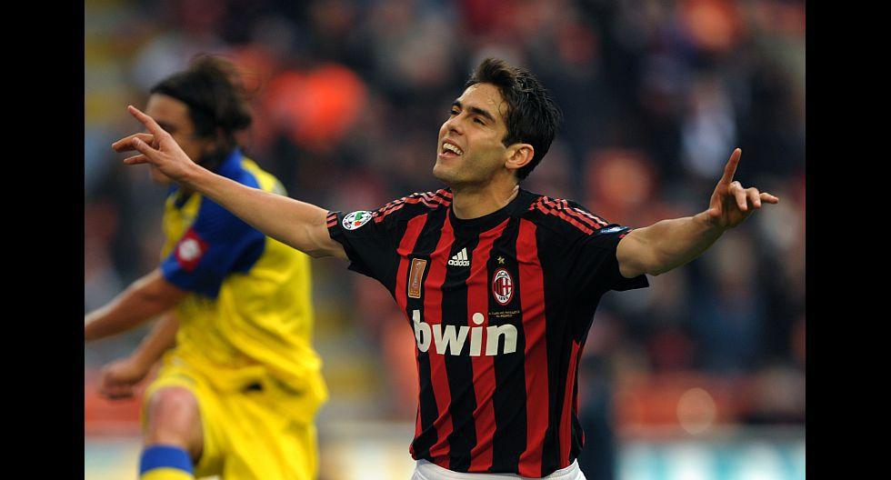 Kaká (AC Milán), en en 77.2 millones de dólares. (Foto: AFP)