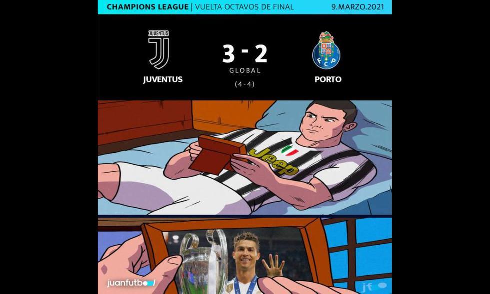 Los memes tras la eliminación de la Juventus de Cristiano Ronaldo en la Champions League.