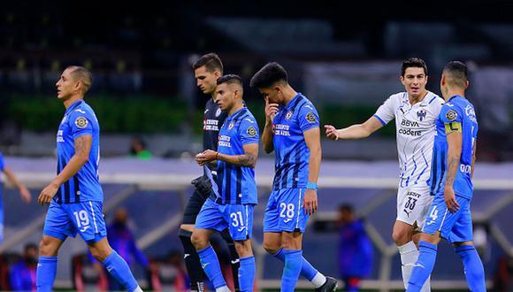 Cruz Azul fue eliminado de la Concachampions tras ser goleado por Monterrey. (Getty)