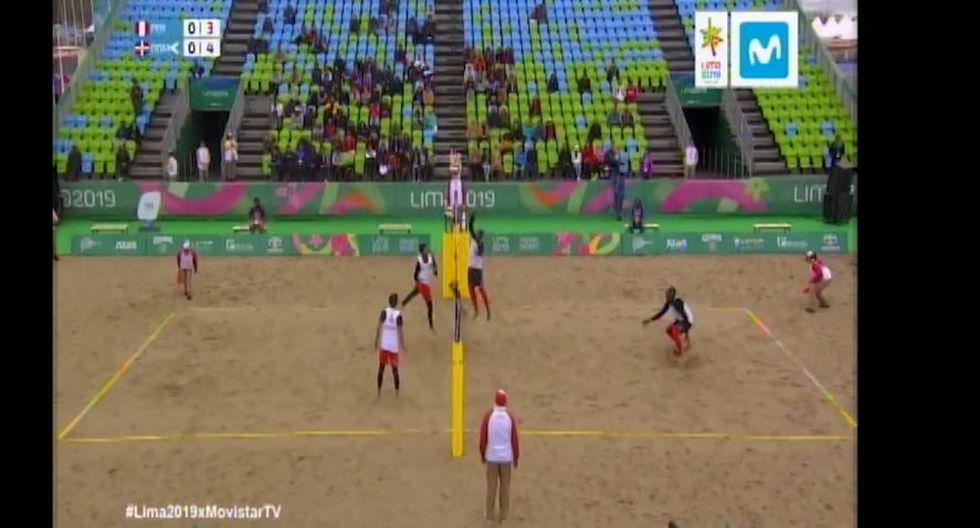 Perú enfrenta a República Dominicana por la fecha 1 de vóley playa de Lima 2019. (Movistar)