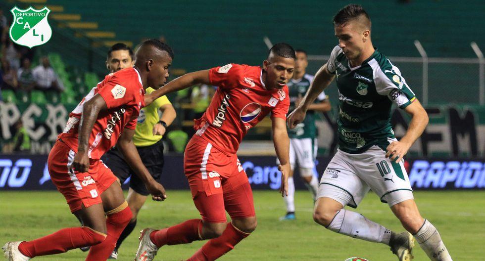 América de Cali no pudo ante Deportivo Cali y terminó cayendo por 2-1 en el Coloso de Palmaseca. (Foto: Deportivo Cali)