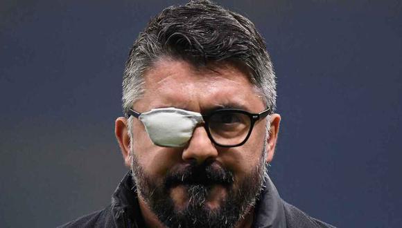 Gennaro Gattuso lleva un parche en el ojo debido a la enfermedad que sufre. (Foto: Reuters)
