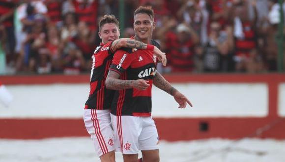 Paolo Guerrero está entre los goleadores del Torneo Carioca 2017. (CRFC)