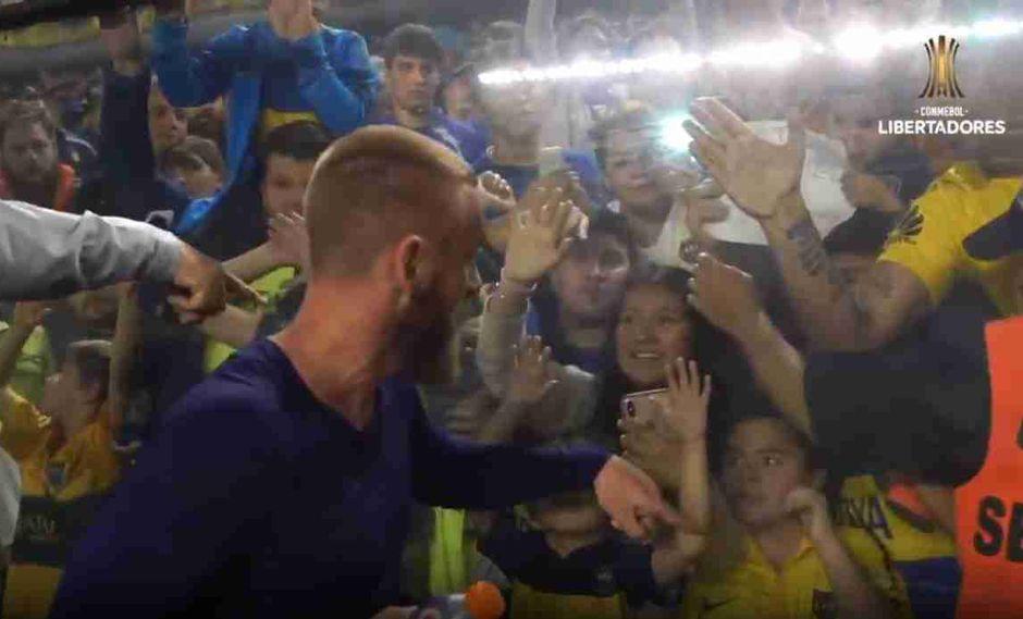 Daniele De Rossi llegó hace un mes a Boca Juniors. (Captura: Conmebol Libertadores)