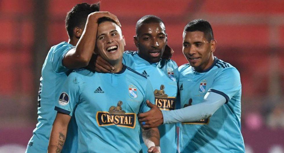 Los celestes la hicieron linda en el partido de ida por la Copa Sidamerocana. (AFP)