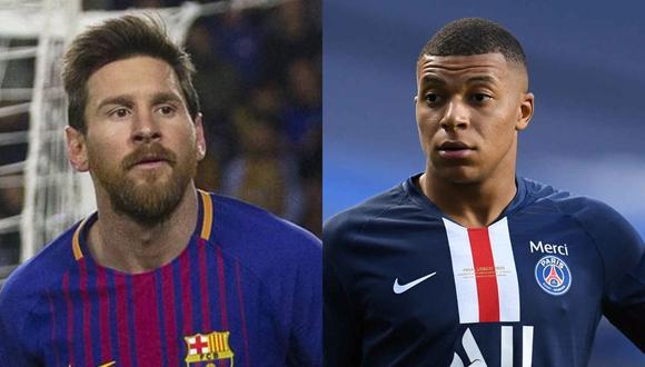PSG solo podría afrontar el salario o de Kylian Mbappé o de Lionel Messi. (Fotos: AFP/EFE)