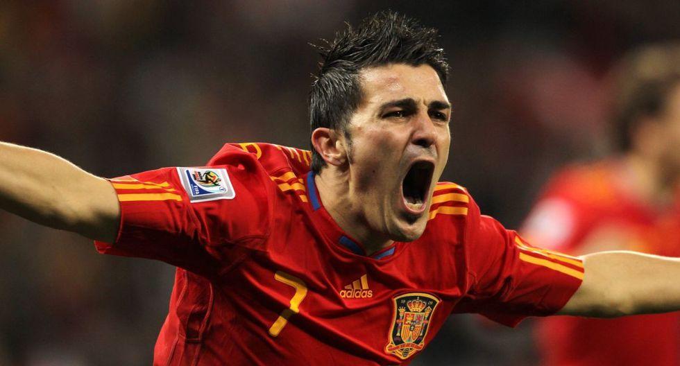 David Villa debutó en el fútbol profesional con el Real Zaragoza en el 2003. (Getty)