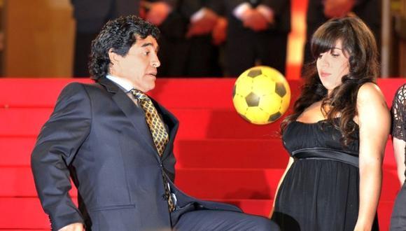 Gianina Maradona defendió a Diego de periodistas (Foto: Agencias)