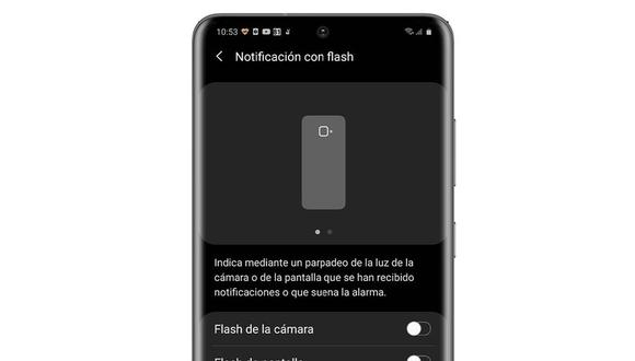 ¿Cómo usar el flash de Samsung como LED de notificaciones?