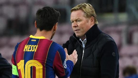 Koeman dirigió a Lionel Messi en FC Barcelona durante una temporada. (Foto: AFP)