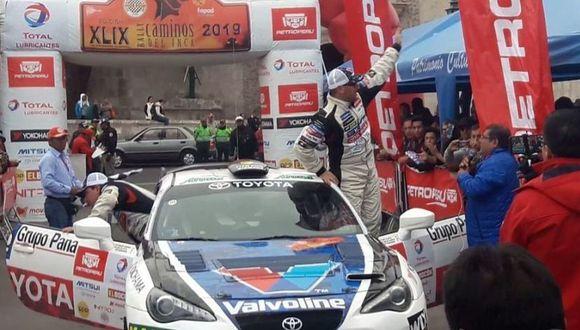 Luiz Alayza y su copiloto Carlos Ganoza compitieron en la categoría de Súper Turismo a bordo del Toyota Gt86. (Foto: El Comercio)