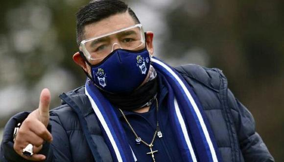 Maradona volvió a entrenar a Gimnasia y Esgrima de La Plata. (Agencias)