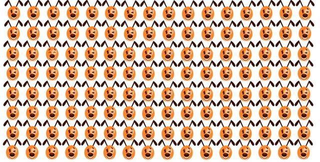 Encuentra el emoji de perro diferente al resto en este desafío visual. (Foto: Facebook/Captura)