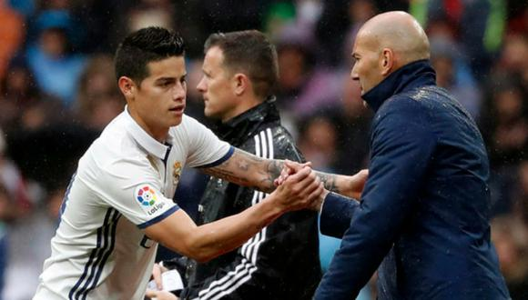 James Rodriguez no ha vuelto a una convocatoria de Zidane desde que pidió no viajar a Bilbao. (Foto: AFP)