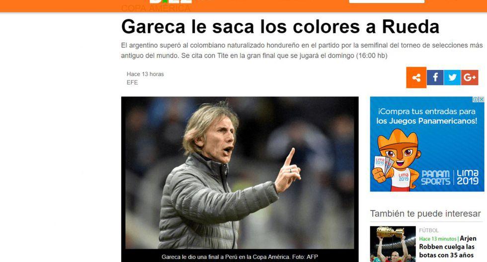 Prensa internacional se rinde ante Ricardo Gareca tras su participación en la Copa América (Captura)