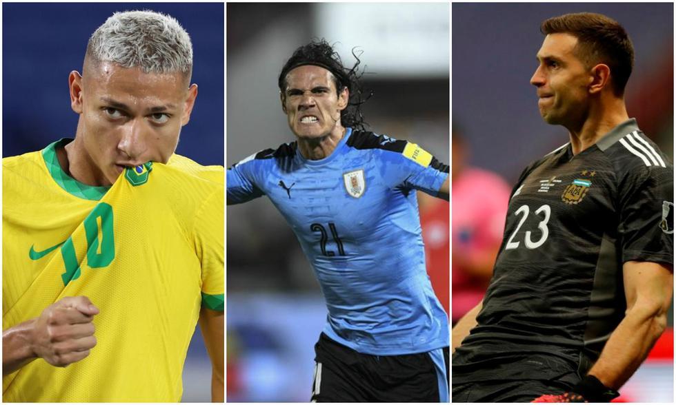 Richarlison, Cavani y Martínez serán las grandes ausencias en las próxima fecha triple de las Eliminatorias Sudamericanas. (Fotos: Agencias)
