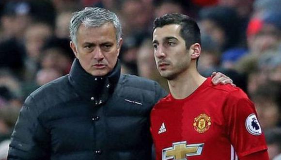 Mkhitaryan y Mourinho coincidieron entre el 2016 y 2018 en el Manchester United. (Foto: Getty)