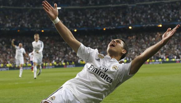 Javier 'Chicharito' Hernández también jugó en el Real Madrid. (AFP)