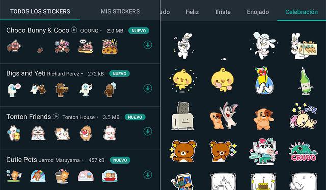 De esta forma podrás activar la nueva barra de búsqueda de stickers en WhatsApp.  (Foto: MAG)