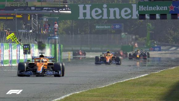 Daniel Ricciardo consigue el triunfo para McLaren en el Gran Premio de Italia. (Foto: F1)