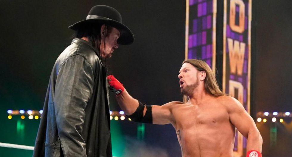 La rivalidad entre 'Taker' y Styles inició en Super ShowDown cuando el primero venció al segundo y ganó el trofeo Tuwaiq. (Foto: WWE)