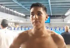 """Joaquín Vargas no pudo avanzar en 400 metros libre: """"Estoy con buenas vibras para la de 200"""" [VIDEO]"""