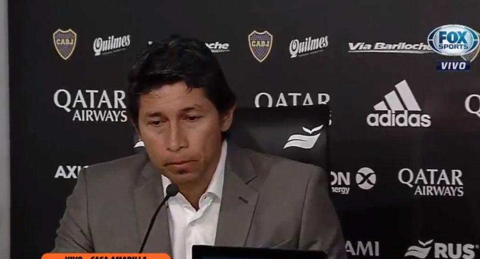 Carlos zambrano fue presentado como nuevo jugador de Boca Juniors. (Captura: FOX Sports)