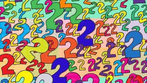 """Con la finalidad de poner a prueba tu observación, el siguiente reto viral coloca un signo de interrogación entre varios números """"2″."""