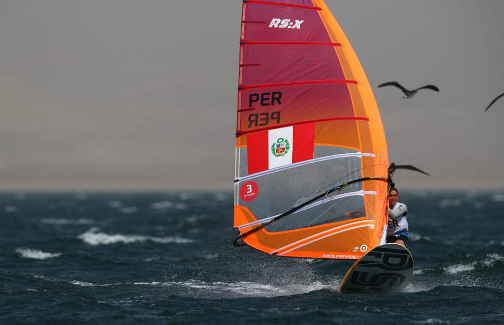 María Belén Bazo ganó medalla de bronce en Windsurf en los Juegos Panamericanos Lima 2019. (Foto: Alessandro Currarino)