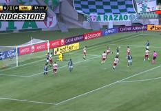 Ayuda divina: palo evitó gol de Gustavo Scarpa en el Universitario vs. Palmeiras [VIDEO]