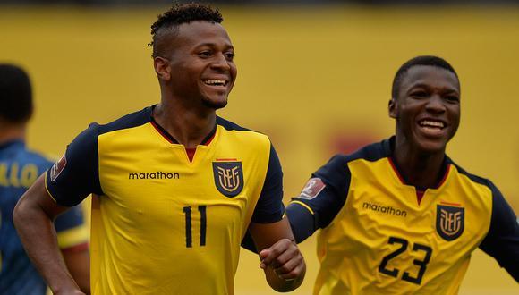 Ecuador vence 4-1 a Colombia por la cuarta fecha de las Eliminatorias 2022. Michael  Estrada celebra uno de los goles junto a sus compañeros. Mira todos  los goles aquí. (Foto: AFP)