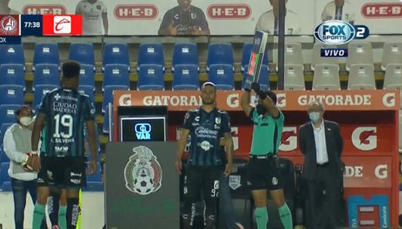 Jonathan Dos Santos jugó sus primeros minutos con Querétaro. (Captura: Fox Sports)