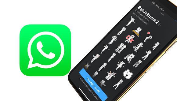 Conoce cómo poder descargar los nuevos stickers animados de WhatsApp. (Foto: Mockup)