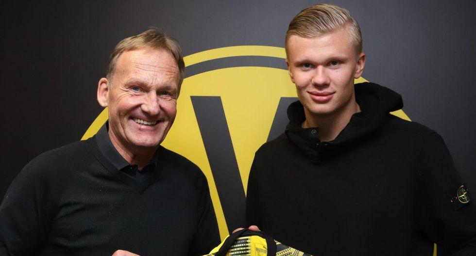 Haaland arregló con el Dortmund hasta 2024 y será presentado este lunes. (Borussia Dortmund)
