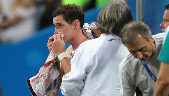 Sebastian Rudy no pudo continuar jugando el partido entre Alemania y Suecia por el Grupo F del Mundial. (Getty Images)