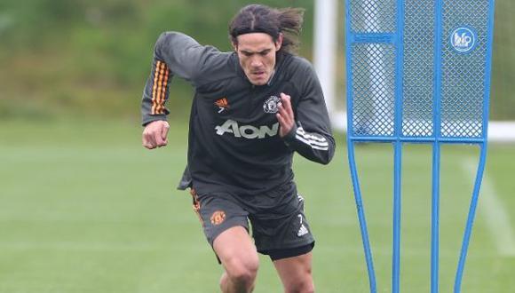Edinson Cavani se sumó hace algunos días a los entrenamientos con el Manchester United. (Foto: Manchester United)