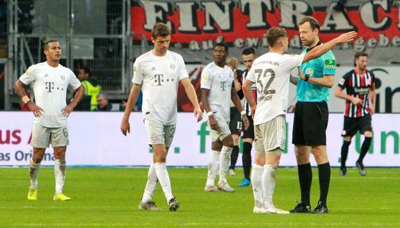 Bayern Munich perdió 5-1 ante Eintracht Frankfurt por Bundesliga 2019. (AFP)