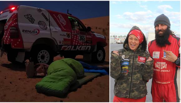 Fernanda Kanno corre su tercer Rally Dakar. (Instagram/Christian Cruz)